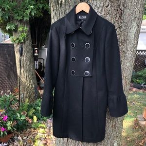 Marvin Richards wool blend double breasted coat